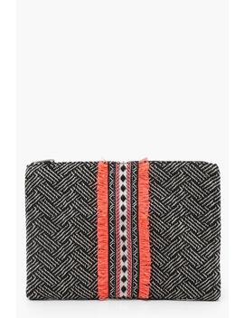 neon-trim-woven-clutch by boohoo