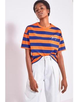 tommy-hilfiger-signature-stripe-orange-peel-t-shirt by tommy-hilfiger