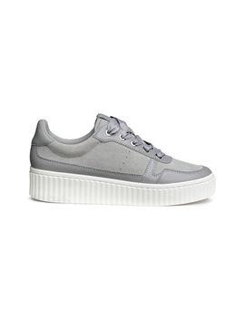 sneakers-van-leer-en-suède by h&m
