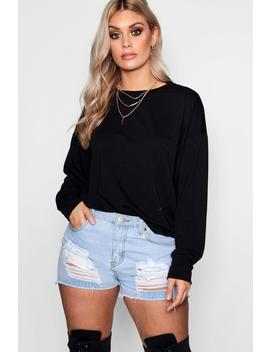 plus-crew-neck-sweat by boohoo