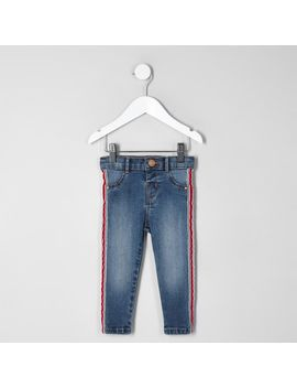 mini-girls-molly-denim-side-tape-jeggings by river-island