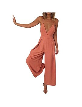 ❤gloous-women-deep-v-sleeveless-clubwear-playsuit-bodycon-party-trousers-jumpsuit by gloous