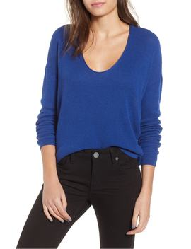 textured-stitch-v-neck-pullover by bp