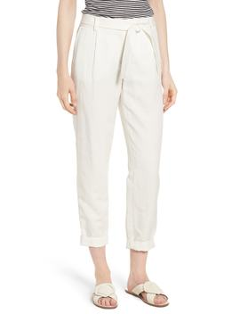 linen-blend-tie-waist-pants by nordstrom-signature