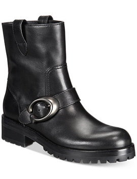 leighton-signature-buckle-combat-booties by coach