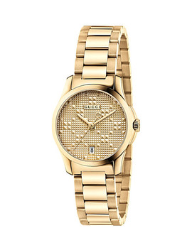 ya126553-g-timeless-gold-plated-stainless-steel-watch by gucci