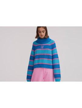 lazy-oaf-stripey-roll-neck-jumper by lazy-oaf
