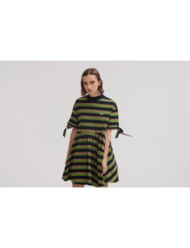 lazy-oaf-bow-sleeve-stripey-dress by lazy-oaf