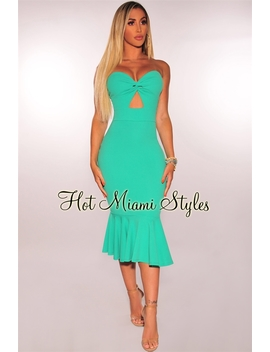 jade-knotted-strapless-mermaid-dress by hot-miami-style