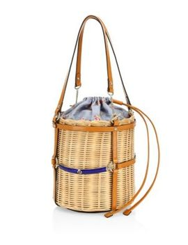 cestino-straw-small-bucket-shoulder-bag by gucci
