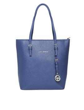 lisa-haydon-for-lino-perros-navy-shoulder-bag by lino-perros