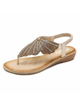 zicac-ladies-clip-toe-butterfly-rhinestone-flip-flop-sandals-summer-low-flat-heel-beach-shoes by amazon