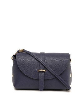 dressberry-navy-blue-textured-sling-bag by dressberry