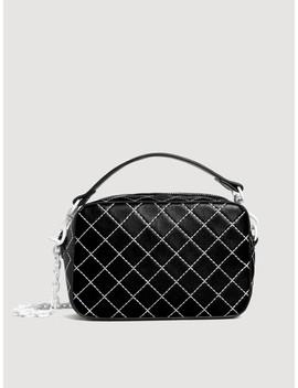 mango-black-&-white-solid-sling-bag by mango