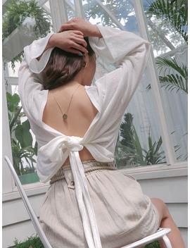open-self-tie-top by stylenanda