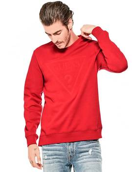 sudadera-logo-en-relieve by guess
