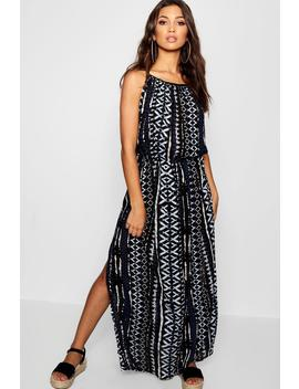 printed-side-split-maxi-dress by boohoo