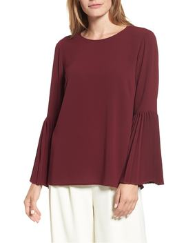 pleated-bell-sleeve-blouse by vince-camuto