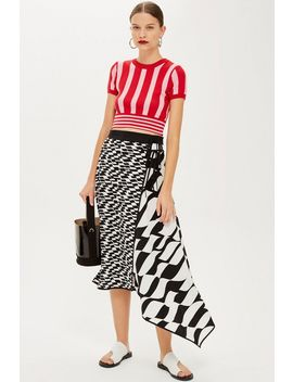 geometric-print-midi-skirt by topshop