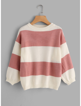 wide-striped-sweater by romwe