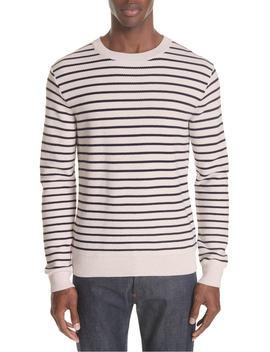striped-crewneck-sweater by apc