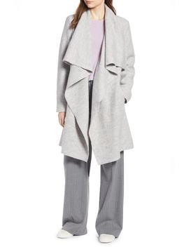 boiled-wool-blend-drape-front-coat by halogen®