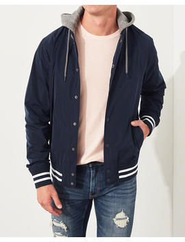 hooded-varsity-bomber-jacket by hollister