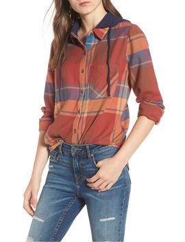 hooded-plaid-shirt by bp