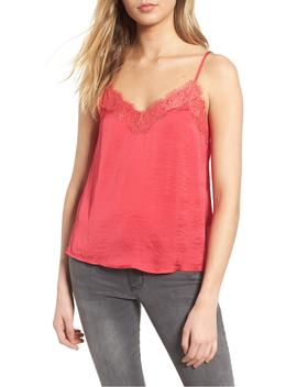 lace-trim-satin-camisole by bp