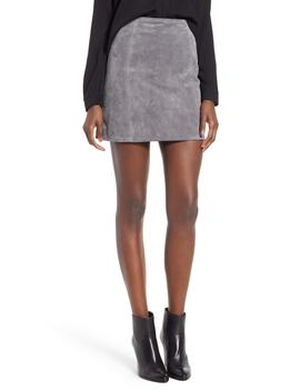 a-line-suede-skirt by blanknyc