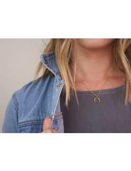 gold-horn-necklace,-gold-moon-necklace,-horn-necklace,-moon-necklace,-gold-horn,-gold-moon,-silver-horn-necklace,-silver-horn,-a19a by etsy
