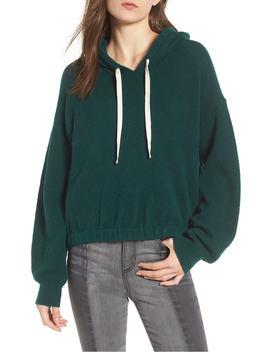 cinched-hem-bouclé-hoodie by bp