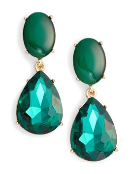 gemstone-statement-double-drop-earrings by halogen®