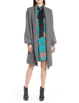 blouson-sleeve-long-cashmere-cardigan by halogen®