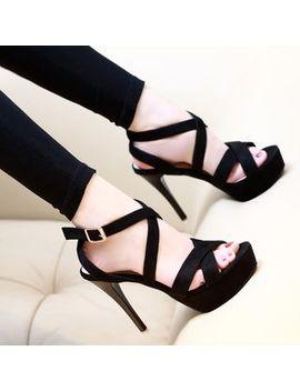 cross-strap-high-heel-sandals by anran