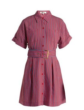 striped-patch-pocket-shirtdress by diane-von-furstenberg