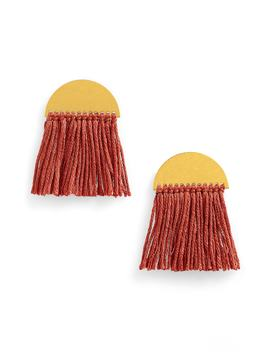halfmoon-fringe-earrings by madewell