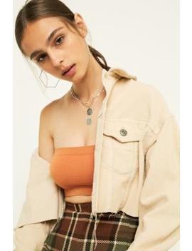 bdg-ecru-corduroy-cropped-trucker-jacket by bdg