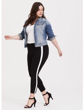 pull-on-trouser---black-&-white-ponte by torrid