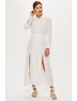 pleated-spot-shirt-dress by topshop