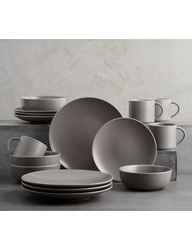 mason-16-piece-dinnerware-set---graphite-gray by pottery-barn