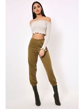 olive-loose-joggers by i-saw-it-first