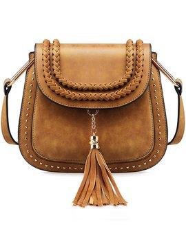 tom-clovers-womens-vintage-tassel-saddle-shoulder-bag-crossbody-bag-sling-bag-shopping-travel-satchel by tom-clovers