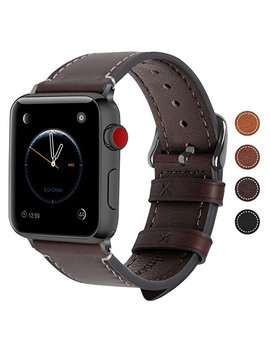 apple-watch-band-38mm-and-42mm,-8-colors-fullmosa-wax-leather-iwatch-band_strap-for-apple-watch-series-3,-series-2,-series-1 by amazon