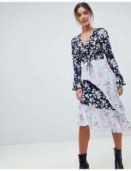 missguided---robe-asymétrique-à-fleurs-variées by missguided