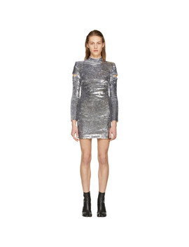 silver-disco-dress by helmut-lang