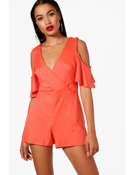 open-shoulder-plunge-playsuit by boohoo