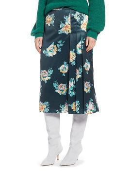 pleat-detail-midi-skirt by halogen®