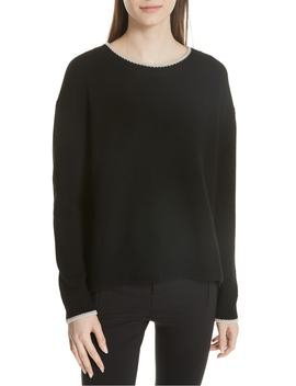 wool-&-cashmere-tipped-sweater by vince