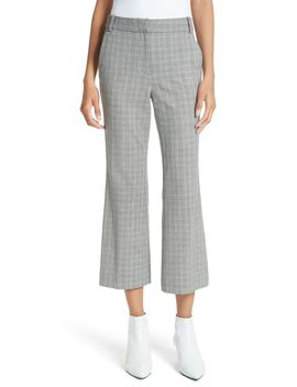 glen-check-crop-bootcut-pants by tibi